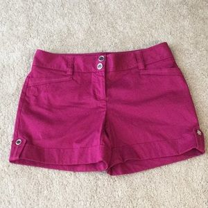 WHBM Raspberry Dress Shorts Size 2 And Like New!